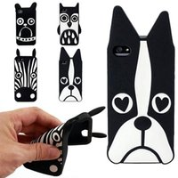 Cartoon-Tier Design Liebe Hund / Zebra / Eulen-weiche Silikon-Phone Cases für iPhone 5 5s Abdeckung
