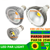 Wholesale Ul Led Par Lamp - 2016 NEW COB Dimmable Led bulb par38 par30 par20 85-265V 10W 20W 25W E27 E26 Par light LED Lighting Spot Lamp light downlight