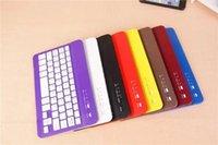 Wholesale Tab Keyboard Aluminum Cases - 50PCS Ultra Slim Aluminum Wireless Bluetooth Keyboard For ipad mini IOS Android Windows tablet PC