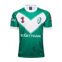 calções irlandeses venda por atacado-2018 rugby jersey 17 18 Irlandês Home Rugby Jersey Men Manga Curta Jerseys Original Rugby Camisa 2018 Uniformes Irlanda