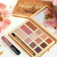 Wholesale Full Queen Size - Tarte eyeshadow palette makeup brands kyshadow Swamp Queen Clay Palette 12Colors Eye Shadow with brush Cosmetics set