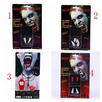 3Cm Halloween Masquerade Party Props Ghost Day Supplies Белые зубы Cuspid Cosplay Party Используйте вампир 2 зуба
