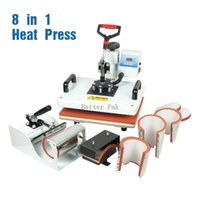 Wholesale T Shirt Transfers Machines - HM-CIN1(8in1) heat press (single heating) High pressure T-shirt heat press machine sublimation heat transfer machine (29cm*38cm)