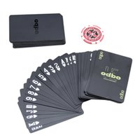 black playing cards Canada - Waterproof novelty plastic pvc poker cards pure Black color playing card as collection special poker set board game cards