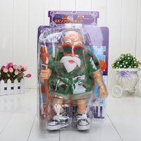 Wholesale Master Roshi Models - 10'' 25cm Anime Dragon Ball Master Roshi PVC Action Figure Model Toy with box Free Shipping