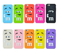 Chocolate Colorful Haricots Rainbow MM cas souples en silicone Cartoon Bonbons Coque en caoutchouc pour iphone 5 6 6s ainsi galaxy S7 S6 Note 5 DHL