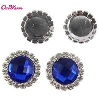 Wholesale Diamante Craft - Wholesale- 30pcs lot round Acrylic Diamante Beads Wedding party 21mm DIY Craft Napkin Ring Decor