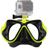 Scuba Diving Máscara Óculos de Natação Snorkeling Anti Fog Revestido de  Vidro Temperado À Prova de Água de Design 100% À Prova de Explosão GoPro  Herói ... d9e4574368