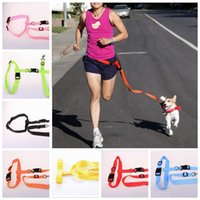 Laisses de chien en nylon Running Puppy Lead Collars Sport Laisse de marche réglable Mains Jogging Free Dog Leashes YW85