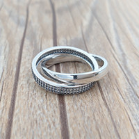Wholesale White Gold Promise Rings - Signature 925 Sterling Silver Rings P-Promise Ring, Clear Cz Fits European Pandora Style Jewelry 196547CZ