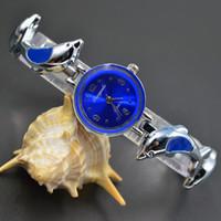 Wholesale Wrist Watch Dolphins - Fashion exquisite Chaoyada Woman girl dolphins style steel metal strap quartz small bracelet wrist Watch