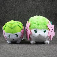 Wholesale Shaymin Plush - Poke plush stuffed toys hedgehog grass green new Shaymin plush 11cm-15CM 2pcs lot high quality Pikachu plush