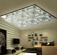 Wholesale Lustres Pendentes Led - AC 110-240V Modern 72W LED Crystal Ceiling Light Fixture 6 lights lamps lamparas de pie lustres e pendentes sala dining room living room