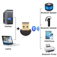 Wholesale Usb Laptop Headset - Usb CSR bluetooth 4.0 adapter micro mini USB 2.0 wireless audio dongle bluetooth receiver adapter for Laptop iPhone Headset networking