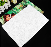 Wholesale old art crafts - Blank Sublimation A4 Jigsaw Puzzle with 120 Pieces DIY Heat Press Transfer Crafts Puzzle Office & School Supplies