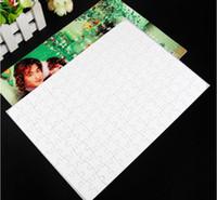 artesanato venda por atacado-Em branco Sublimação A4 Jigsaw Puzzle com 120 Peças DIY Heat Press Transferência Artesanato Enigma Escritório Material Escolar