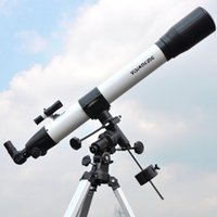 Wholesale Equatorial Telescope - Visionking 900x80 Equatorial Mount Space Refractor Astronomical Telescope Outdoor Sky Observation Astronomy Telescope