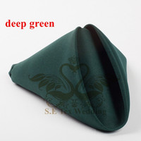 Wholesale Deep Green Color Poly Napkin For Wedding Decoration cm cm Good Quality