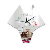 2016 Nouvelle Europe Acrylique Miroir Horloge Mur Autocollant Diy Autocollants Home Decor Rhinoceros Grilles Miroir Horloges murales