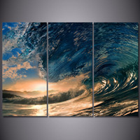 Wholesale Ocean Artwork - 3 Panel HD Printed tropical paradise ocean sea Painting Canvas Print room decor print poster picture canvas paintings artwork for sale