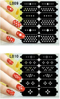 Wholesale Wholesale Vinyl Stencils - Nail art hollow nail decals template stickers stencil nail stickers DIY nail stamping polish guild hollow vinyl stickers 73 styles