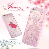 Cute Style Pink Frame + 3D Fashion Colorato disegno o modello goffrato cassa del diamante per iPhone 6 / 6S / 6Plus Protection Shell
