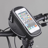 "Wholesale Top Handlebar Bicycle Bags - H0090 Roswheel Waterproof Mountain Road MTB Bike Bicycle Front Top Frame Handlebar Bag Cycling Pouch for 5"" inch Cellphone Phone"