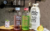 Wholesale Color Kettle - 2018 Creative 1000ml High borosilicate glass Bottle cup transparent with bag alphabet water cup big capacity 4 color coffee mugs wholesale
