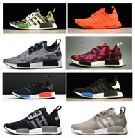 2017 NMD Runner Chaussures NND R1 Monochrome Mesh Primeknit Remise Pas Cher Femmes Hommes Chaussures de Course Sneakers Sport Chaussures 20 + COULEUR EUR36-45