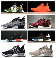 Wholesale Tassels Red Color - 2017 NMD Runner Shoes NND R1 Monochrome Mesh Primeknit Discount Cheap Women Men Running Shoes Sneakers Sports Shoes 20+COLOR eur36-45