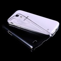 Wholesale S4 Back Crystal - Plastic Slim Armor Crystal Clear Case For Samsung Galaxy S4 Mini S5 S6 A7 A8 A5 Phone Transparent White Protective Hard Back Cover Capa