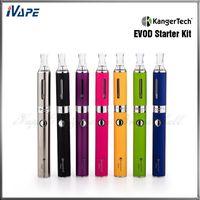 Wholesale Evod Kanger Sets - 100% Original KangerTech EVOD Starter Kit with 650mah EVOD Battery and 1.6ml EVOD BCC Atomizer Kanger EVOD E-Pen Double Set