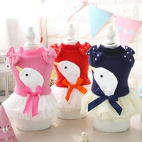 Wholesale Skirt For Young - Young swan gauze skirt cute dog clothes for small dogs girl Spring and summer dog jumpers