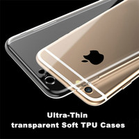 Wholesale Silicon Camera Covers - For iPhone7 6s TPU Soft Case Protect Camera Cover Crystal Clear Transparent Silicon Ultra Thin Slim Shell for iPhone 6s  6s Plus