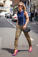 Wholesale Leopard Harem Lady - Fashion Casual Loose Fit Leopard Print Women Tropical Harem Pants Lady 2016 Summer Trousers Plus Size