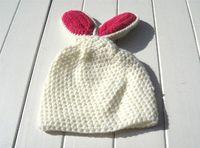 Wholesale Kids Fashion Crochet - Rabbit Design Children Warm Winter Baby Caps Knitting Wool Crochet Beanie Soft Nap Kid Hats Fashion Retail