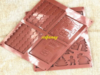 Wholesale Silicone House Mould - 50sets lot Fast shipping 2pcs set DIY 3D Christmas House Silicone Mold Chocolate Cake Mould For Make Biscuits Cake