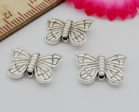 Wholesale Tibetan Butterfly Spacer - 300Pcs Tibetan Silver Butterfly Spacer Beads For Jewelry Making 15x11mm