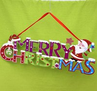 Wholesale Christmas Door Decor Wholesale - NEW Merry Christmas Door Decoration Christmas Tree Decors Merry Christmas Letter Card for Xmas Tree Hanging