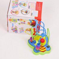 ingrosso giocattoli del labirinto del branello-Giocattoli per bambini in legno Bead Mini Animal Around The Bead Wire Labirinto Gioco Giocattoli educativi Coordinazione occhio-mano con animali dei cartoni animati