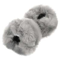 Wholesale Wristband Fur - Promotion On Sale Women Gloves Sleeves Fingerless Autumn Winter Ladies Warm Hand Faux Rabbit Fur Wristband Cuff Mitten Wrist