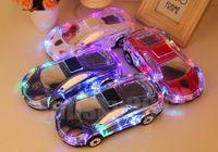 mini pastilla de altavoz al por mayor-Modelo de coche Bluetooth Crystal LED Luz Altavoz MLL-63 Estéreo inalámbrico Mini altavoces portátiles USB TF Reproductor de MP3 FM VS Pill Pulse para iPhone