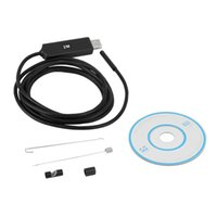 Wholesale Waterproof HD M mm Endoscope Mini USB Camera Borescope Photo Capture Inspection Scope White LEDs Tube for Android Phone PC