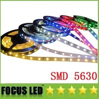 Wholesale Self Adhesive Strip Lights - 5M Lot SMD 5630 Led Strips Light 60LEDs M 12V Self-Adhesive IP65 Waterproof Flexible fita led Lamp Lighting Decoration