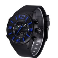 Wholesale Military Numbers - WEIDE WH3402 Rubber Number Sport Black Men Military Wrist Watch Water Resistant