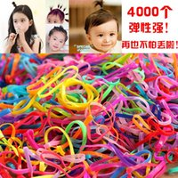 Wholesale Disposable Hair Bands - 3000pcs lot Children disposable rubber band rubber band Tousheng plate made of high elastic hair ring hair accessories free shopping