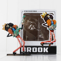 Wholesale Brook Figure - Japanese Anime One Piece Brook Two Years Later One Piece Brook PVC Action Figure Model Collection Toy for kids gift 18cm