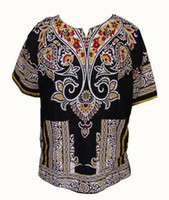 Wholesale Design Fashion Men Clothing - Fashion Design 100% Cotton New Arrival African Print Dashiki Clothing Short Sleeve Dashiki T-shirt For Men