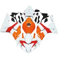 Wholesale Orange White Motorcycle Fairings - Orange White Plastic Fairings For Honda CBR1000RR 06 07 CBR1000 RR 2006 2007 Injection ABS Motorcycle Fairing Kit Bodywork Cover Cowling