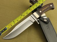 Wholesale New Cr17 Steel Full Tang Ebony Wood Bowie Hunting Knife H18